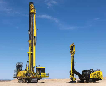 Komatsu Announced It Is Expanding Its P H Product Line To Include Articulating Boom Track Drills The First Machine In Series 44xt Testing